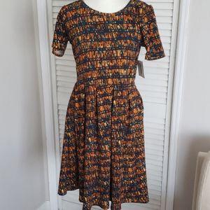 NWT LulaRoe Dress, Amelia, Fit & Flare, Large
